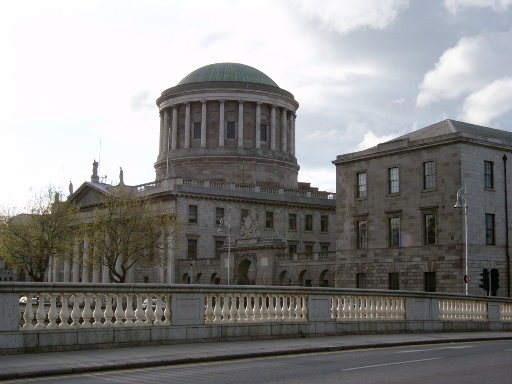 Dublin's main court building (released to the public per Wikimedia Commons).