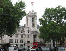 Middlesex Guildhall, the building housing the British Supreme Court
