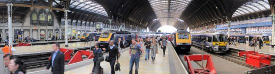 Photo credit: The main platforms of the Paddington rail station in London, UK per Wikimedia Commons license.