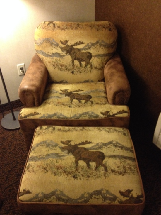 Elk decor in hotel room