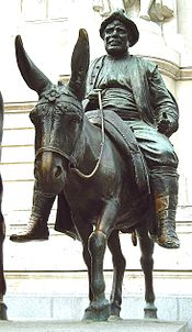 Credit: Sculpture of Sancho Panza in Madrid Spain by Lorenzo Coullaut Valera (1876–1932). Photo credit: Luis García licensed pursuant to Creative Commons Attribution-Share Alike 2.0 Generic license.