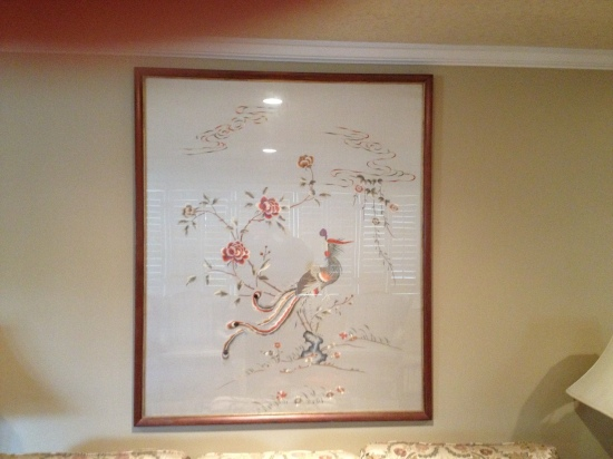 This silk piece hangs in our living room in Nebraska.  It came from Joan's home in the French Quarters of Shanghai around 1947.