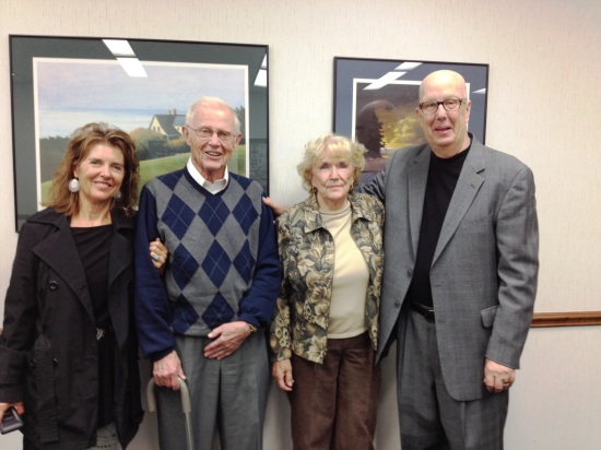 Bill and Elsie Barrett with their daughter Beth. September 24, 2014 in RGK's chambers