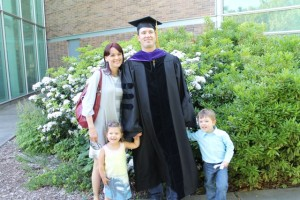Shon and his pretty family upon graduation from the University of Washington School of Law, where he was a Gates public service law scholar.