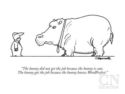 charles-barsotti-the-bunny-did-not-get-the-job-because-the-bunny-is-cute-the-bunny-got-th-new-yorker-cartoon