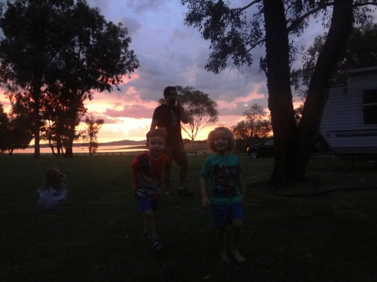 Sunset over Lake Hume