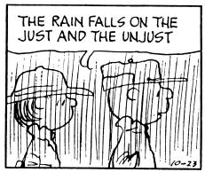 The rain falls on the just and unjust | Hercules and the umpire.