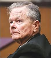 Credit: Boston Globe.  Former priest John Geoghan in court in January 2002.