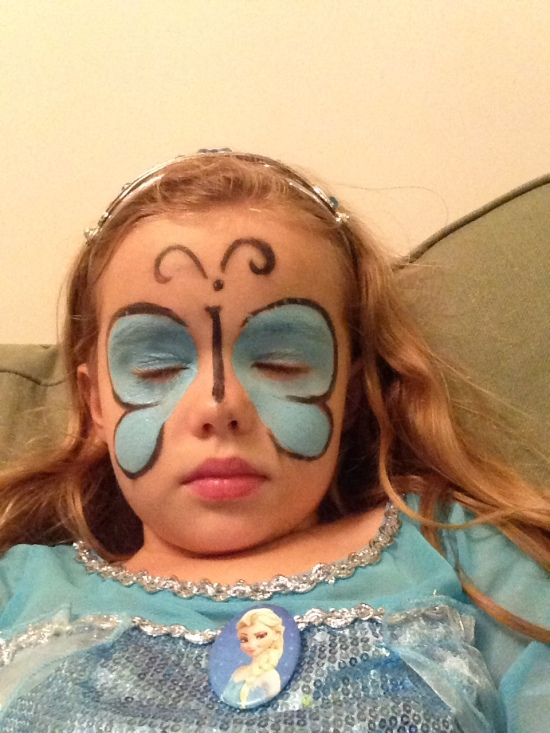 P crashes after face painting party